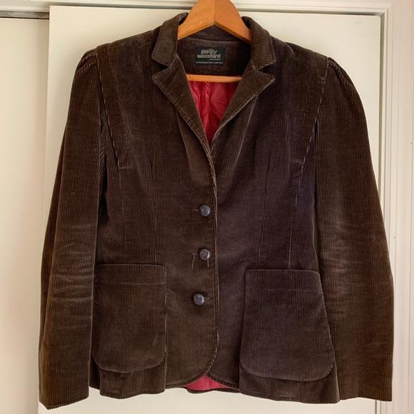 Patty Woodard Jackets & Blazers - Vintage brown corduroy blazer with puff sleeve